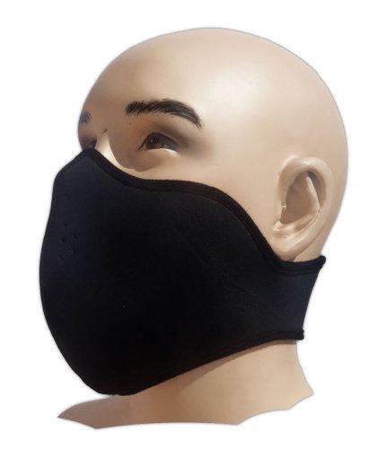 Máscara protectora negra neopreno filtro polvo fino
