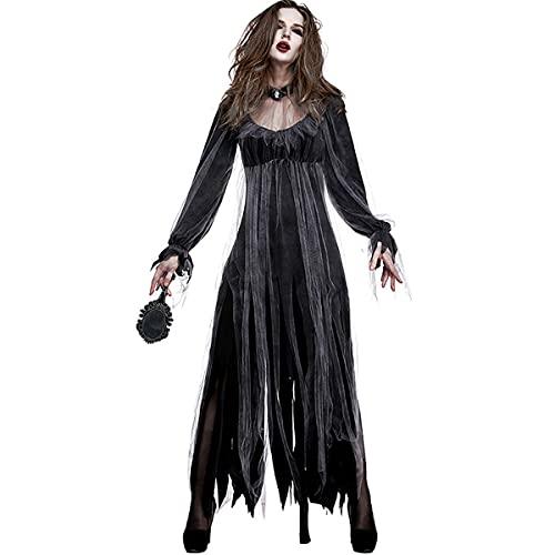 Disfraz De Cosplay para Mujer Disfraz De Fantasma Novia Zombi Vampiro Diablo...