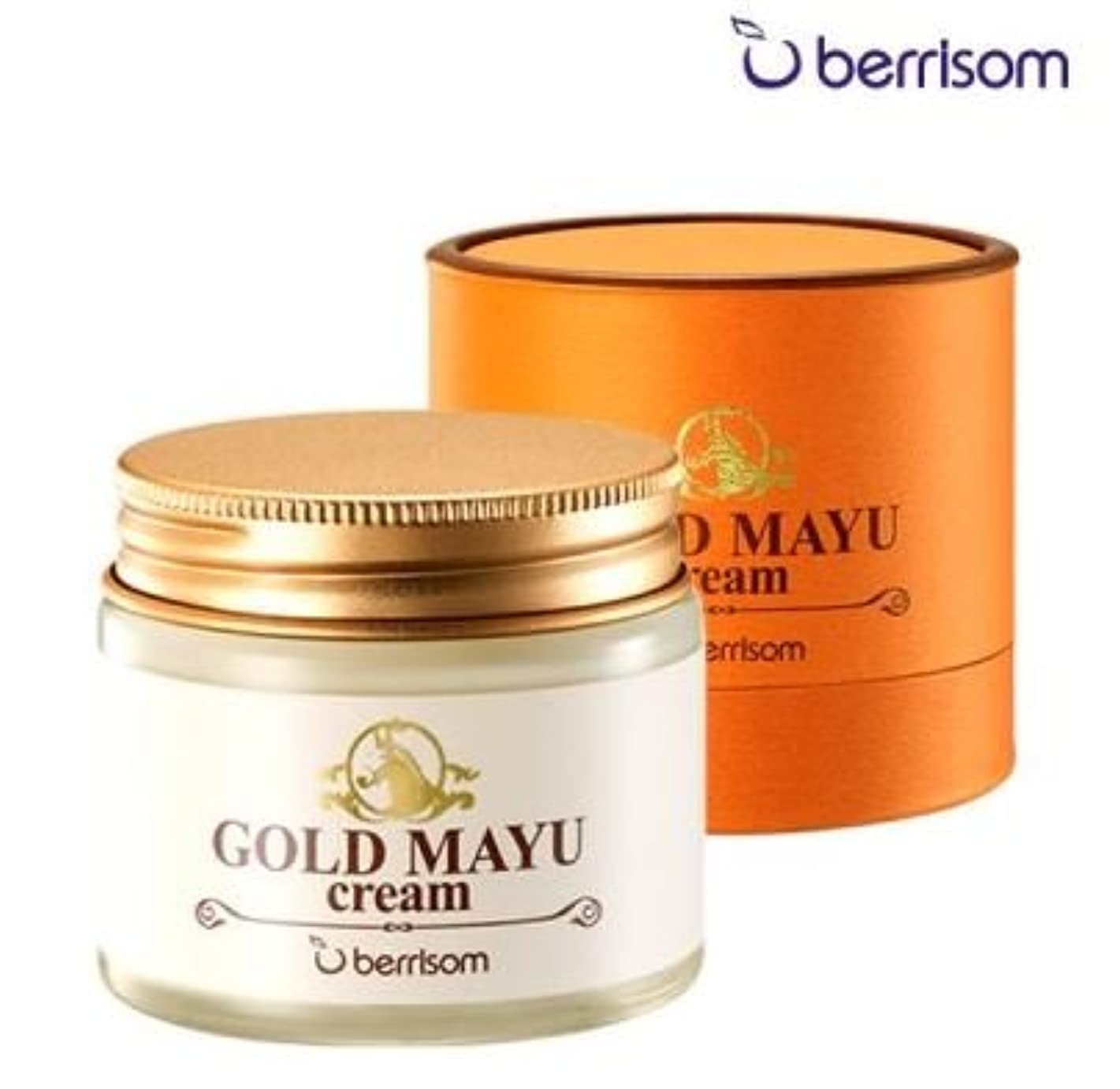 追い越す運営計器Berrisom(ベリサム) ゴールド 馬油クリーム/Gold Mayu Cream/Horse Oil Cream(70g) [並行輸入品]
