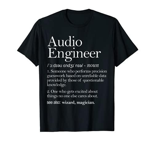Ropa de definición de audio de audio, Ingeniería de audio Camiseta