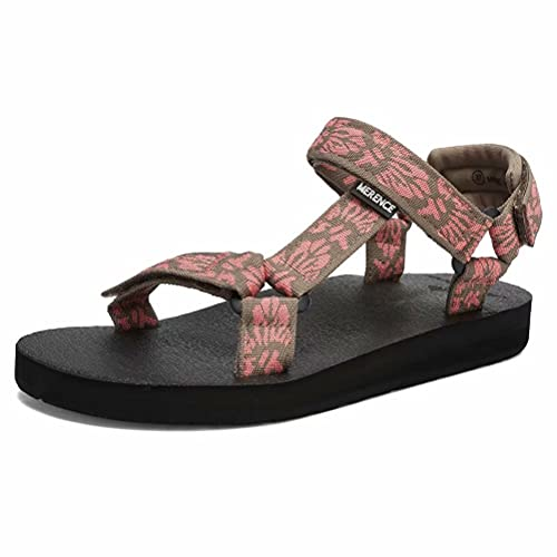 CIOR Women's Sport Sandals Hiking Sandals with Arch Support Yoga Mat Insole Outdoor Light Weight Water Shoes-U121SLX025-sakura-37