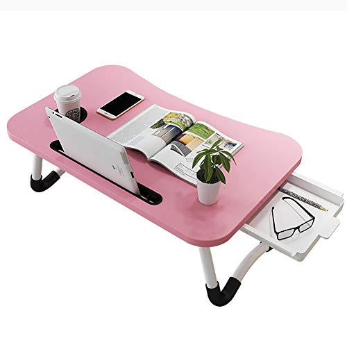Bed Tray Table, Laptop Stand Computer Desk Folding Table,Breakfast Tray Reading Stand Desk for Bed/Sofa/Desk- Best Gift,Pink