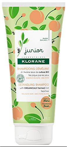 Klorane Champú desenredante Junior Peach 200 ml