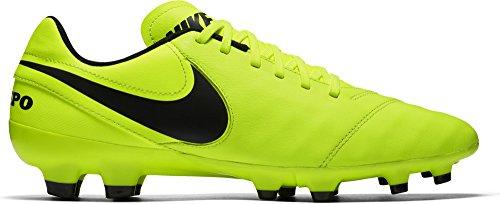 Nike Tiempo Genio II Leather FG, Botas de Fútbol para Hombre, Amarillo (Volt/black-volt), 40.5 EU