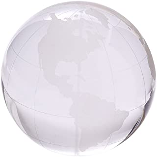 Two's Company World View Etched Globe Paperweight, Hand-Etched Glass Design