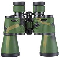 WXFQX 20 x 50 prismáticos for Adultos, Duradero Claro Ampliar binoculares con luz de la Noche de Baja Visión HD, Gran Aumento