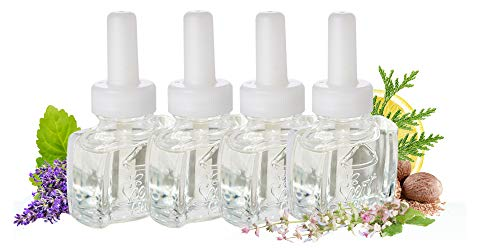 (4 Pack) Clary Sage & Lavender Blend Plug in Refill Air Freshener - Fits Air Wick Scented Oil Warmers