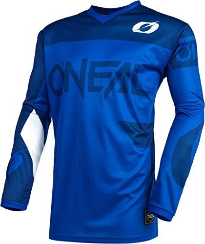 O'Neal | Jersey de Motocicleta | Enduro Motocross | Protección Acolchada para los Codos, Ajuste para una máxima Libertad de Movimiento | Jersey Element Racewear | Adultos | Azul | Talla XXL