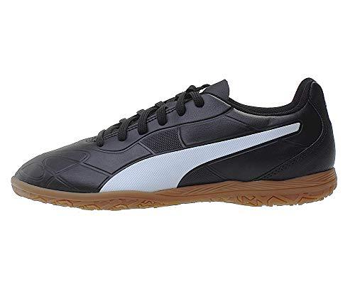 PUMA Monarch IT Jr, Zapatillas de Fútbol Unisex Niños, Negro Black White, 34 EU