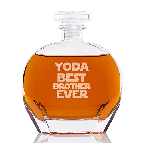 Yoda Best Brother Ever Engraved Puccini Glass Decanter