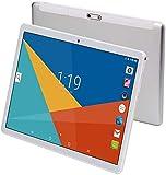 Android 9.0 Tablet 10 Zoll mit SIM-Kartensteckplätzen 4 GB RAM 64 GB ROM Quad Core 3G freigeschaltetes GSM-Telefon Tablet-PC Eingebauter WiFi Bluetooth GPS (Metall Silber)