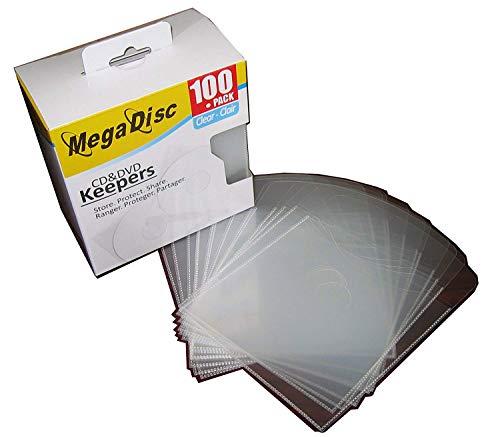 MegaDisc CD DVD Plastic Keepers Holder Clear 500 Pk (Plastic Bag Bulk Pack)