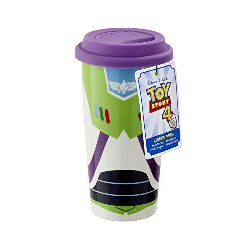 Funko Toy Story-Lidded Mug-Buzz, Porcelain, Multicolor, 16oz