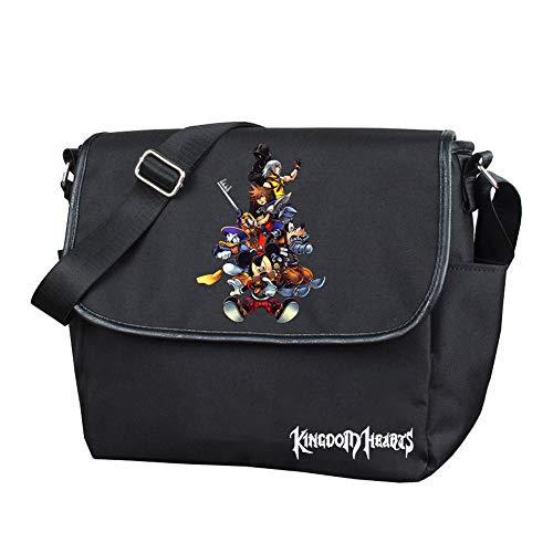 Kingdom Hearts - Mochila de senderismo con diseño de corazones, unisex, para mujer