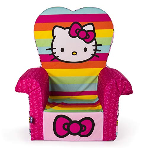 Marshmallow Furniture, Children's Foam High Back Chair, Hello Kitty, by Spin Master