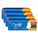 Niine Naturally Soft Regular Sanitary Pads for women, With Biodegradable disposable bags inside...