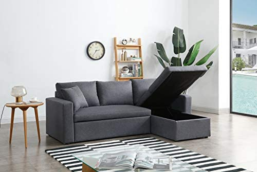 Best Greatime S2602 Fabric Convertible Section Sofa