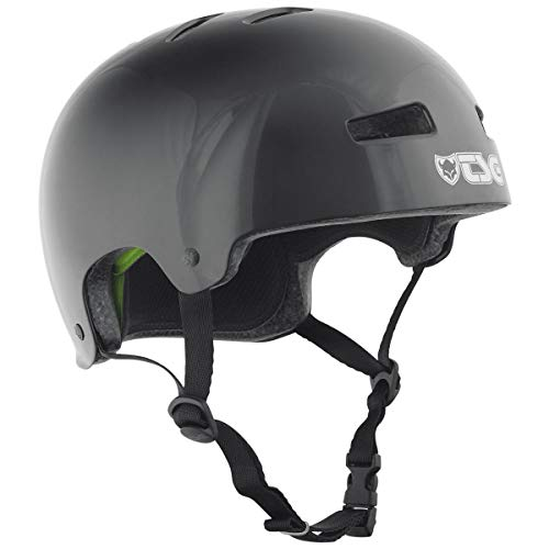 Best Price TSG Evolution Skate & Bike Helmet in Injected Black w/Snug Fit & Triple Cert. for Skatebo...