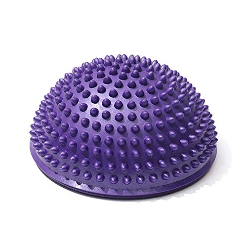 LEDGOO 16cm Dia Semi-Circular Durian Balls Inflatable Yoga Exercise Ball Yoga Balance Disk for Yoga Suitability Main Gym Training