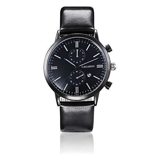 FENKOO Schöne Armbanduhren CAGARNY Herrenuhr Mode Quarz Uhr Herrenuhr (Color : 2)