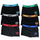 Sleques Premium Boxershorts 6er Pack - Hochwertige Kinder Unterhosen - Optimaler Mikrofaser Shorts für Jungen - Farbenvielfalt - Größe 104-116 (4-6) Fußball1