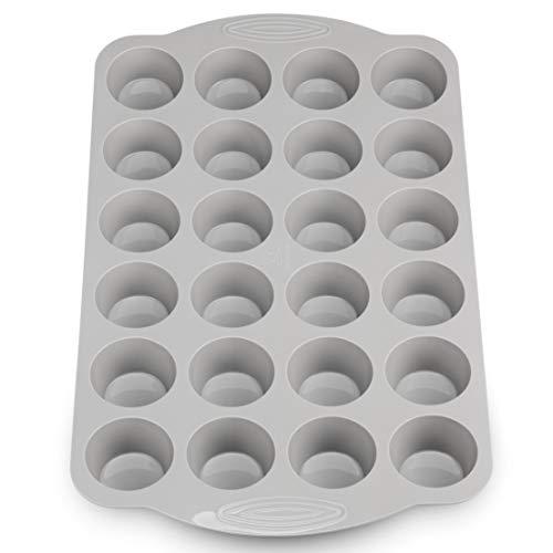 Backefix *𝐧𝐞𝐮𝐞𝐬* Komfort Muffinblech 24er aus Silikon mit Griffen - XXL Muffinform für große Mini-Muffins