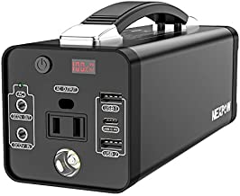 178Wh Portable Power Station, 48000mAh Camping Solar Generators Lithium Battery Power Supply with 110V/120W(Peak 150W) AC Outlet, USB PD QC3.0, LED Flashlights for CPAP Home Camping Emergency Backup