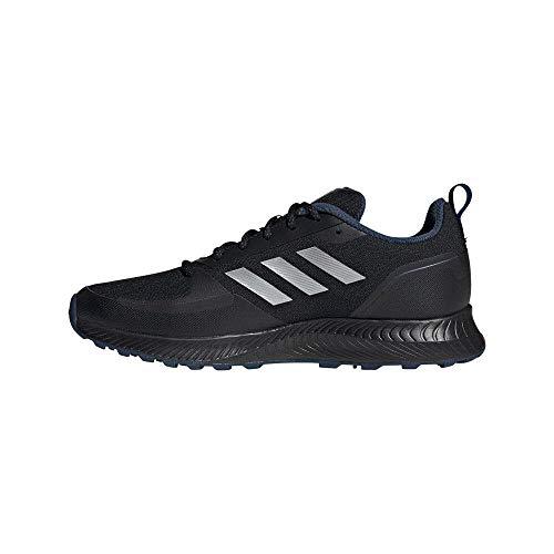 adidas RUNFALCON 2.0 TR, Zapatillas para Correr Hombre, Core Black Silver Met Crew Navy, 43 1/3 EU