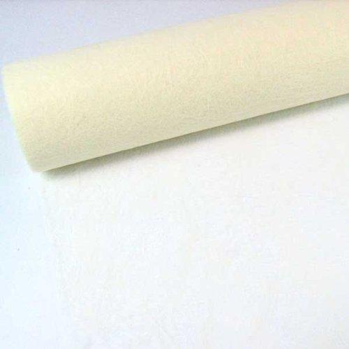N/A 1m Sizoflor® Original Tischband Tischläufer Tischdeko Faserseide 30cm / 300mm, Farbe:Creme