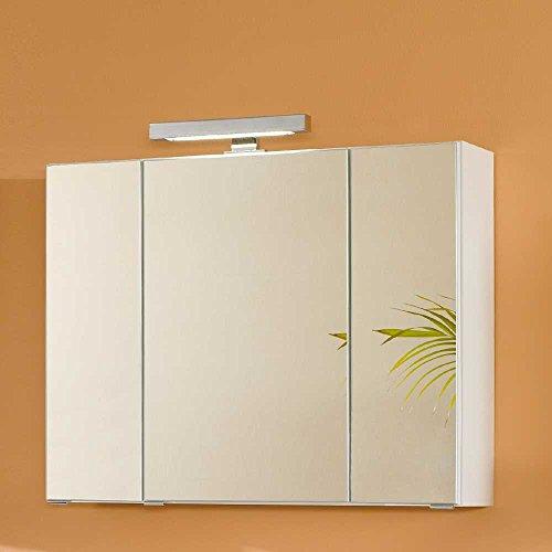 Pharao24 Badezimmer Spiegelschrank in Weiß 3D Breite 60 cm