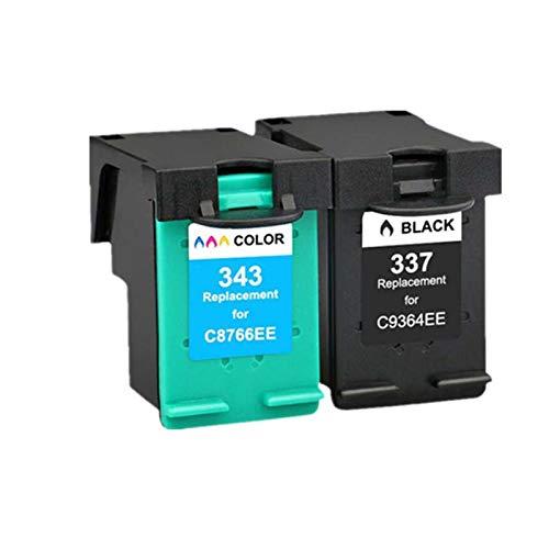 Cartuchos de tinta 337XL, cartucho de reemplazo de 343XL para HP Deskjet 5740 5743 5745 5748 Cartuchos de impresora de tinta compatibles con cuatro colores de cuatro Combination