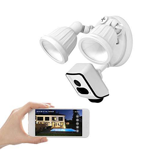 FREECAM überwachungskamera Aussen 1080P aussenleuchte mit bewegungsmelder und Kamera,Gegensprechfunktion und Sirene,2500lm,16 GB SD-Karte vorinstalliert