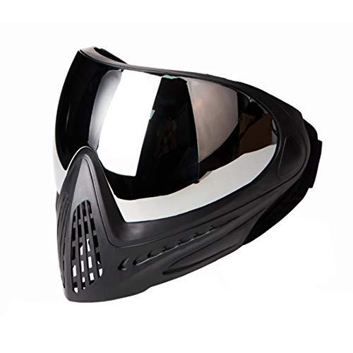 Gettesy Máscara táctica para airsoft, máscara completa para paintball, máscara con gafas de protección, máscara facial para Nerf Rival, Nerf, fiesta de Nerf, Halloween, CS fiesta