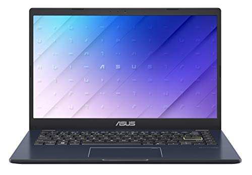 ASUS Laptop E410MA-BV252T, Notebook in alluminio con Monitor 14' HD Anti-Glare, NumberPad, Intel Celeron N4020, RAM 4GB DDR4, 128G eMMC, Windows 10 Home S, Nero