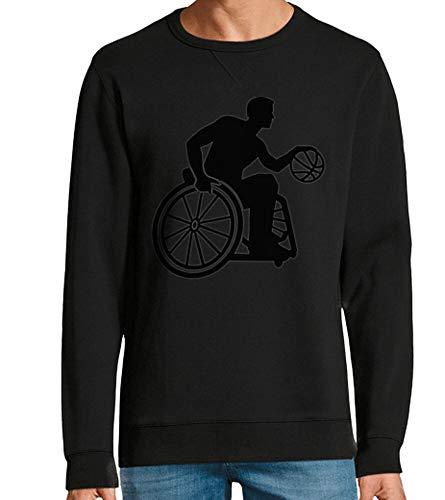 tostadora - Hoodie Rollstuhl-Basketball - Manner und Frauen Schwarz L
