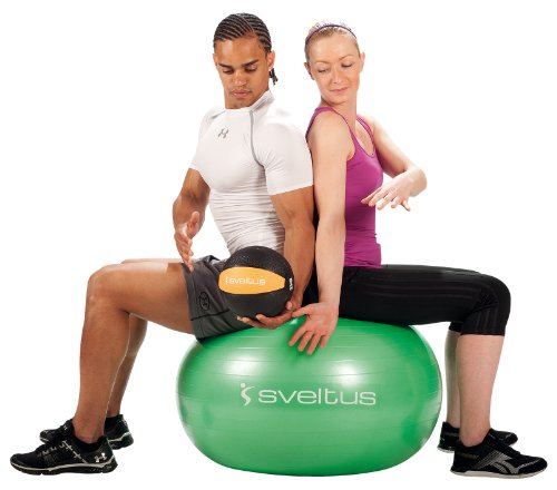 Sveltus - Balón Medicinal (5 kg), Color Gris
