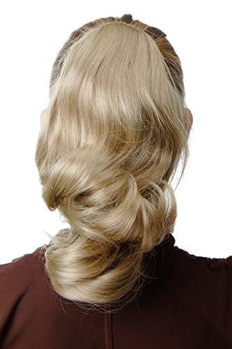 WIG ME UP - SA04-202 Extension natte queue de cheval ondulée volumineuse blond clair 30 cm