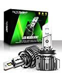 NOVSIGHT H11/H8/H9 LED Headlight Bulbs, 20000 Lumens 600% Extremely Brighter Low Beam Conversion Kit, 6500K Cool White, IP68 Waterproof, Brightest Halogen Replacement