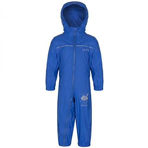 Regatta Great Outdoors Childrens Toddlers Puddle IV Waterproof Rainsuit (48-60m) (Oxford Blue)