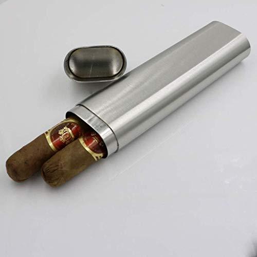 Caja de puros Caja de cigarros portátil caja de cigarros de puros de vino del tubo del tubo del embudo 2 Oz gruesa de acero inoxidable frasco de la cadera avanzada cigarro equipo del tubo de fumadores