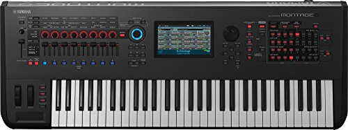 Yamaha Montage6 61-key Synthesizer Workstation, Black