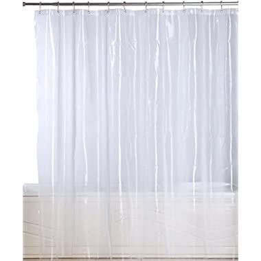 Utopia Bedding Premium Mildew Resistant Shower Curtain Anti-bacterial Heavy-Duty Waterproof Liner - 72x72 Inch - By (EVA 10 Gauge Clear)