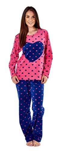 Store, Pijama Manga Larga Estampado corazón Contraste