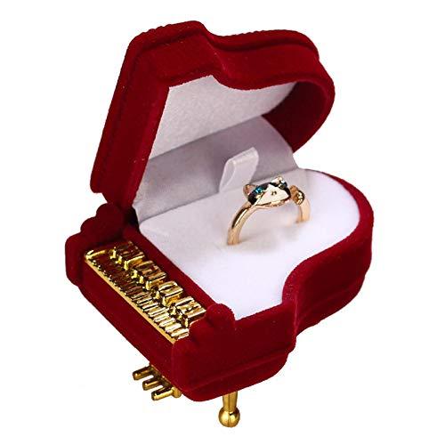 YIJOY Halskette Box Schmuckschatulle Flocking Ring Schmuck Schmuckverpackung Geschenkbox