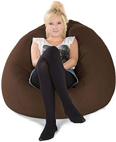 Armchairs NUBAO TOY Bean Bag, Fabric, 2x-large,Red-OneSize (Color : Brown, Size : OneSize)