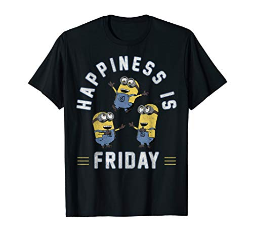 Despicable Me Happiness Is Friday Minions Trio T-Shirt