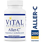 Vital Nutrients - Aller-C (Isoquercitrin, C, and Bioflavonoids) - Respiratory & Sinus Support - Gluten Free - 200 Vegetarian Capsules per Bottle