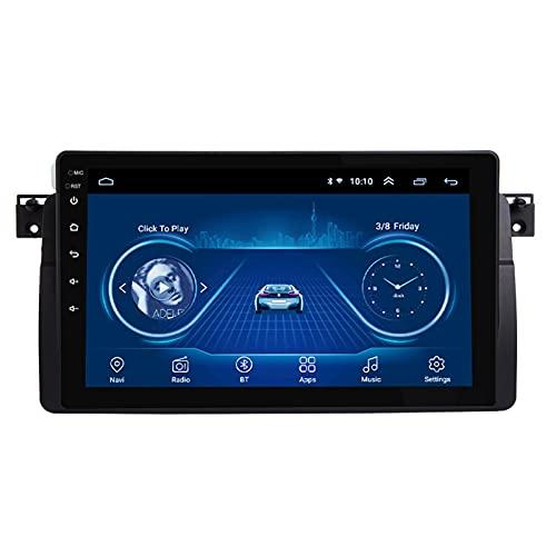 BIEKANNM Nav 9 Inch Android 10 Car Head Unit Receptor De Radio Estéreo - Aplicable para BMW E46 M3 318/320/325/330/335 1998-2006, Navegación GPS Autoradio Car Bluetooth Auto HD,4 Core-WiFi: 2+32G