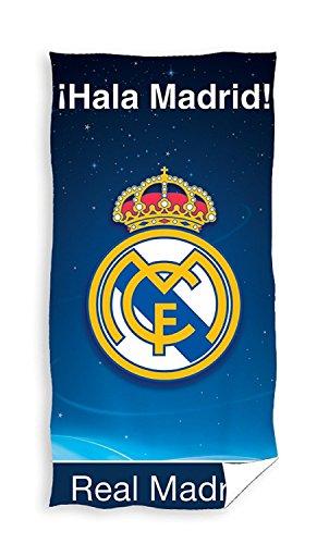 Real Madrid Toalla de playa 150 x 75 cm Oeko-Tex 100% algodón I'Hala Madrid!