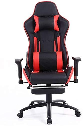 Silla de Oficina Giratoria Duradera Gaming Chair, Hogar Internet Cafe, Oficina Asiento reclinable, Silla Neto Racing, Racing Silla giratoria, Silla de Oficina ergonómica (Color : Red)